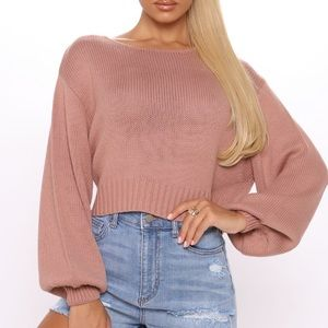 ✨NWT All she needs crop sweater